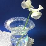 Plastic bottle vase made from plastic bottle