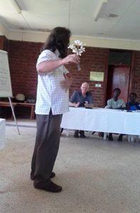 Roger teaching on the use of Frangi Pani for Shingles