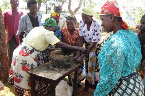 REAP Teaching women to mould liners